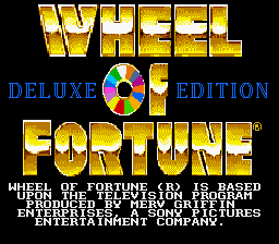 Wheel Of Fortune: Deluxe Edition (SNES)  © GameTek 1994   1/3