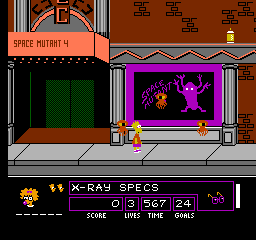 The Simpsons: Bart Vs. The Space Mutants (NES)  © Acclaim 1991   3/3
