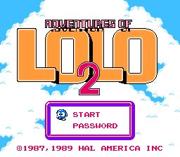 Adventures Of Lolo 2 (NES)  © HAL Laboratory 1990   1/3