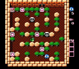 Adventures Of Lolo 2 (NES)  © HAL Laboratory 1990   2/3