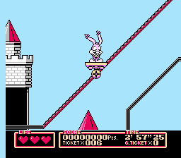 Tiny Toon Adventures 2: Trouble In Wacky Land (NES)  © Konami 1992   2/3