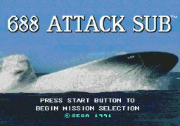 688 Attack Sub (SMD)  © Sega 1991   1/3