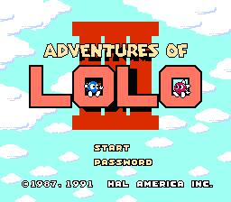 Adventures Of Lolo 3 (NES)  © HAL Laboratory 1990   1/3