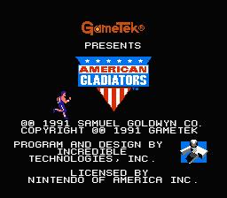 American Gladiators (NES)  © GameTek 1991   1/3