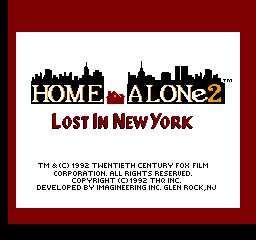 Home Alone 2: Lost In New York (NES)  © THQ 1992   1/3