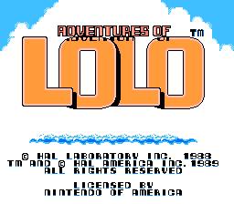 Adventures Of Lolo (NES)  © HAL Laboratory 1989   1/3