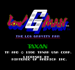 Low G-Man (NES)   © Taxan 1990    1/3