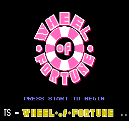 Wheel Of Fortune (NES)  © GameTek 1988   1/3