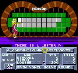 Wheel Of Fortune (NES)  © GameTek 1988   3/3