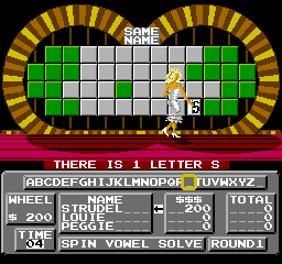 Wheel Of Fortune: Family Edition (NES)  © GameTek 1990   3/3