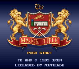 Major Title Tournament Leader (SNES)  © Irem 1992   1/3