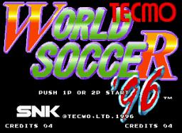 Tecmo World Soccer '96 (MVS)  © SNK 1996   1/3