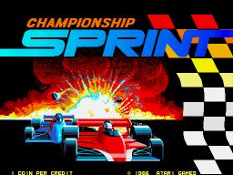 Championship Sprint (ARC)  © Atari Games 1986   1/4