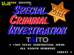 Special Criminal Investigation (ARC)  © Taito 1989   1/4