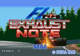 F1 Exhaust Note (ARC)  © Sega 1991   1/3