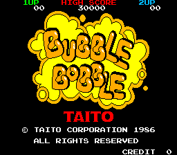 Bubble Bobble (ARC)   © Taito 1986    1/8