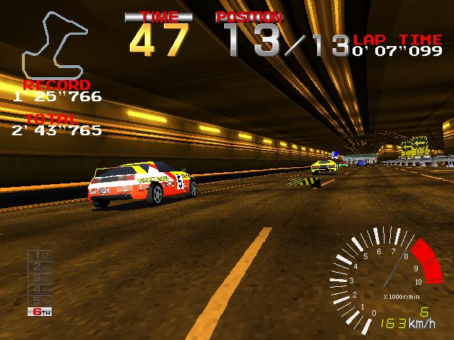 Ridge Racer (ARC)  © Namco 1993   4/4