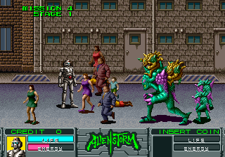 Alien Storm (ARC)  © Sega 1990   10/15