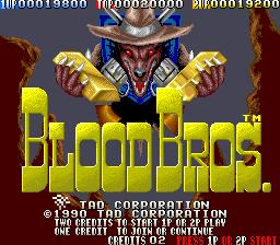 Blood Bros. (ARC)  © TAD 1990   1/5