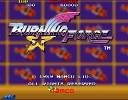 Burning Force (ARC)  © Namco 1989   1/3