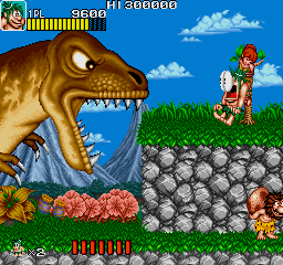 Joe & Mac: Caveman Ninja (ARC)   © Data East 1991    2/6