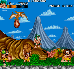 Joe & Mac: Caveman Ninja (ARC)   © Data East 1991    3/6