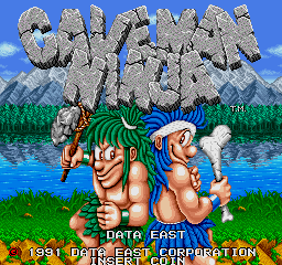 Joe & Mac: Caveman Ninja (ARC)   © Data East 1991    1/6