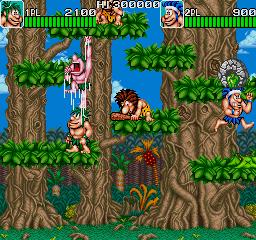 Joe & Mac: Caveman Ninja (ARC)  © Data East 1991   5/6