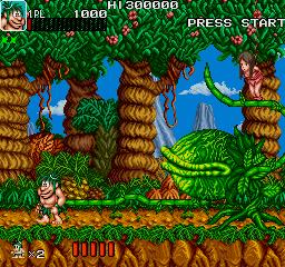 Joe & Mac: Caveman Ninja (ARC)  © Data East 1991   6/6