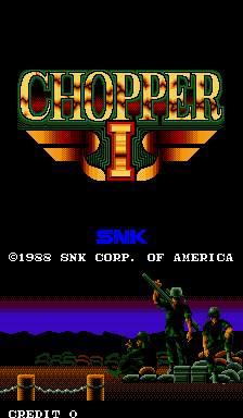 Chopper I (ARC)   © SNK 1988    1/6