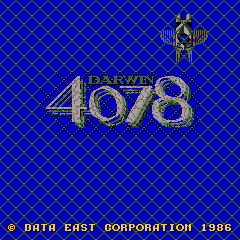 Darwin 4078 (ARC)   © Data East 1986    1/3