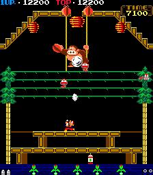 Donkey Kong 3 (ARC)  © Nintendo 1983   2/4