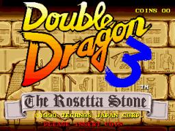 Double Dragon 3: The Rosetta Stone (ARC)  © Technos 1990   1/3