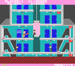 Elevator Action (ARC)  © Taito 1983   2/6