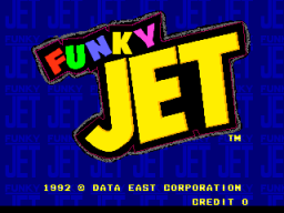Funky Jet (ARC)   © Data East 1992    1/4