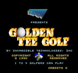 Golden Tee Golf (ARC)  © Strata 1990   1/3