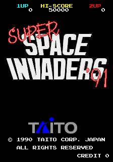 Super Space Invaders (ARC)  © Taito 1990   1/6
