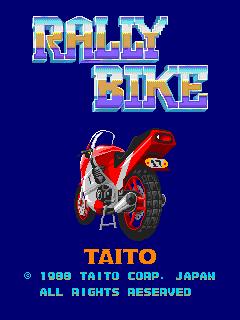 Rally Bike (ARC)  © Taito 1988   1/3