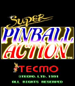 Super Pinball Action (ARC)  © Tecmo 1991   1/3