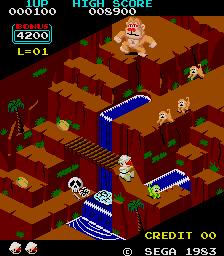Congo Bongo (ARC)  © Sega 1983   2/3