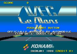 WEC Le Mans 24 (ARC)  © Konami 1986   1/4