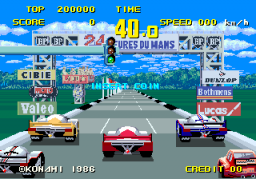WEC Le Mans 24 (ARC)  © Konami 1986   2/4