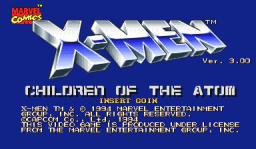 X-Men: Children Of The Atom (ARC)  © Capcom 1994   1/9