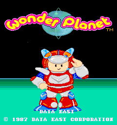 Wonder Planet (ARC)  © Data East 1987   1/4