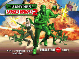 Army Men: Sarge's Heroes 2 (N64)   © 3DO 2000    1/3