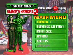 Army Men: Sarge's Heroes 2 (N64)   © 3DO 2000    2/3