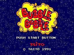 Bubble Bobble (SMS)  © Taito 1991   1/3
