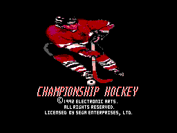 Championship Hockey (SMS)  © U.S. Gold 1994   1/3
