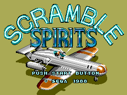 Scramble Spirits (SMS)  © Sega 1989   1/6