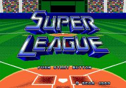 Super League (SMD)  © Sega 1989   1/9